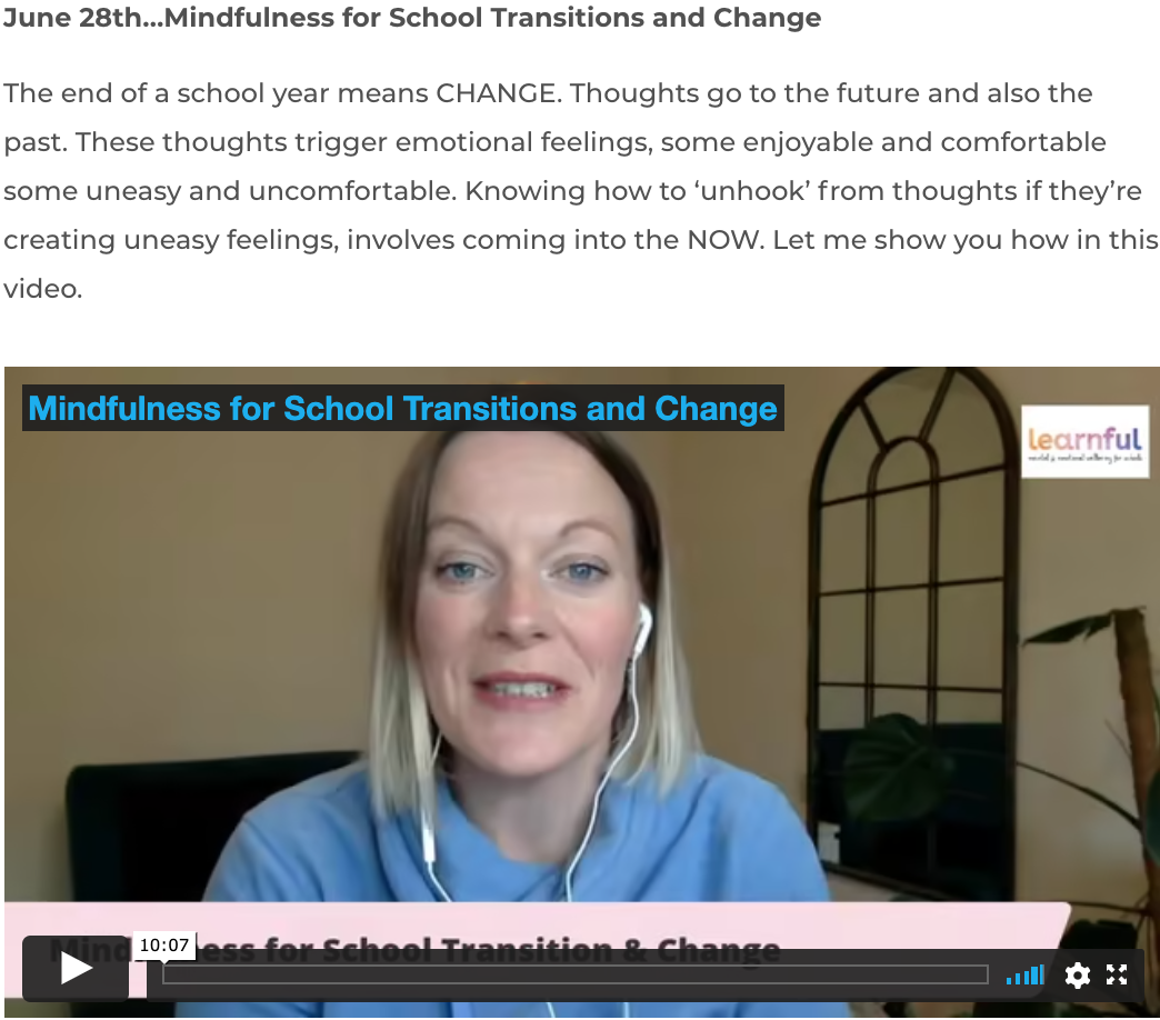 school transitions and change
